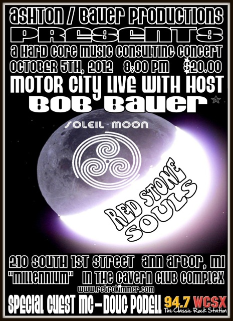 Poster for Soleil Moon concert in Ann Arbor, Michigan